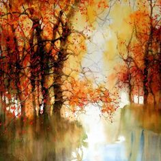 Watercolor Landscape Paintings: ZL Feng from Shanghai is brilliant with his watercolour landscape paintings and has won several international awards for his great work. He started painting with Colorful Art, Contemporary Abstract Art, Art Painting, Landscape Paintings, Watercolor Trees, Painting, Watercolor Paintings Nature, Watercolor Landscape Paintings, Beautiful Landscapes