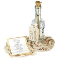 Royal Message in a Bottle with Optional Wooden Tag - Discontinued