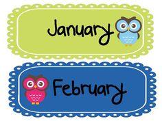 Owl Theme Calendar Freebie image 2   # Pinterest++ for iPad #