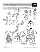 These worksheets will help your child master long and short vowel sounds. In this exercise on the letter U, he'll party with a unicorn, a duck, and some bugs! Short Vowel Sounds, Short Vowels, Worksheets For Kids, Word Work, First Grade, Esl, Phonics, Bugs, Unicorn