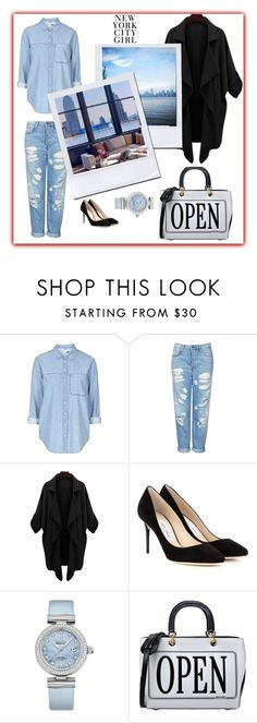 New York City Girl by paris-2409 on Polyvore featuring Topshop, Jimmy Choo, Moschino and OMEGA
