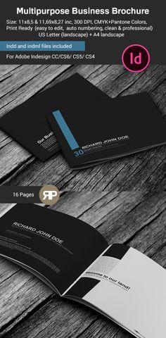 Multipurpose Business Brochure US Letter and A4 by Adis Cengic, via Behance