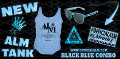 ALM BLACK BLUE COMBO TANK/SUNGLASSES. #LAfresh1 #officialalm www.officialalm.com www.facebook/officialalm.com