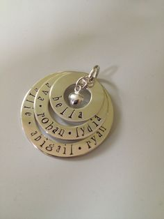 Three washers necklace