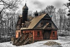 Abandoned wilderstein carriage and stable barn in Rhinbeck, New York.  Photo by Robert Wirth.