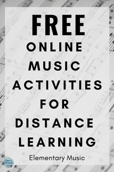 FREE Elementary Music Distance Learning Activities | COVID-19 | Frau Musik USA