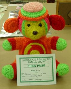 Prize-winning bear. Sold.