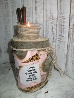 Candelstick with a message ...