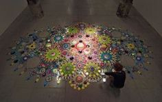 suzen drummen kaleidoscopic crystal floor installations