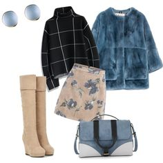 For first snow by sintony on Polyvore featuring мода, Chicwish, Marni, Jason Wu and fur