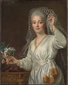 Portrait of a Young Woman as a Vestal Virgin, 1767, by Francois Hubert Drouais