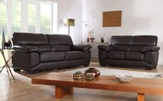 Oregon Brown Leather 3+2 Seater Sofa Suite Only £599.98 | Furniture Choice