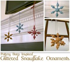 Pottery Barn Inspired Snowflake Ornaments featuring Jaime from That's My Letter