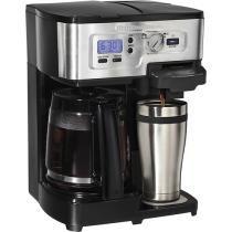 Hamilton Beach - FlexBrew 12-Cup Coffeemaker - Black/Silver