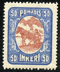 """1920 Scott 9 buff & gray green """"Peasant"""" Quick History Between the River Neva-which flows through St. Petersburg (Petrograd)- and n. Prince Edward Island, Borneo, Postage Stamps, Finland, History, Brown, Prints, Red, Spaces"""