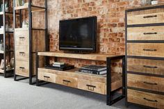 55+ DIY Industrial Furniture Entertainment Center Inspirations on A Budget