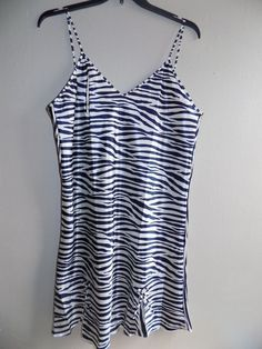 "NEW Womens nightgown dress zebra print 1X New With tags Bust 44"" #Bay6NY #BabydollChemise"
