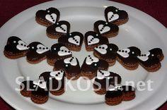 Černobílá pudinková srdíčka Lego Cake, Thing 1, Bakery, Pudding, Cookies, Eat, Breakfast, Christmas, Petra