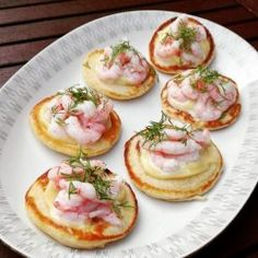 Seafood Recipes, Appetizer Recipes, Vegetarian Recipes, Tapas Party, Birthday Brunch, Biscuits, Appetisers, Fish Dishes, Fish And Seafood