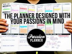 A Passion Planner is an all-in-one weekly appointment calendar, journal, goal setting guide, and to-do list log integrated in one handmade and durable faux-leather planner. It is a planner designed with your passions and personal goals in mind. To Do Planner, Passion Planner, Life Planner, 2015 Planner, Planner Layout, Weekly Planner, Planner Stickers, Printable Planner, Printables