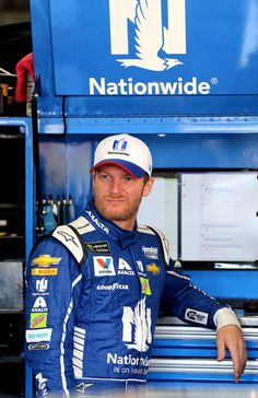 Dale Earnhardt Jr. Photos Photos - Dale Earnhardt Jr., driver of the #88 Nationwide Patriotic Chevrolet, stands in the garage during practice for the Monster Energy NASCAR Series Coca-Cola 600 at Charlotte Motor Speedway on May 27, 2017 in Charlotte, North Carolina. - Charlotte Motor Speedway - Day 3