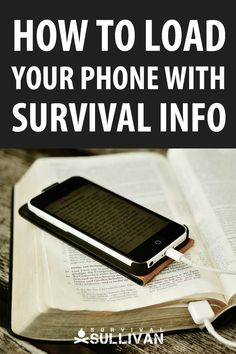 Your phone is capable of storing a TON of survival information such as ebooks, apps and video. We tell you how to load it to the brim, and have all that survival knowledge in your pocket. Survival Life Hacks, Survival Food, Survival Prepping, Survival Skills, Survival Quotes, Survival Supplies, Outdoor Survival, Survival Weapons, Survival Stuff