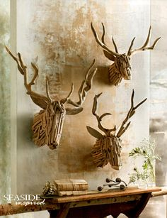 Driftwood Reindeer. Our driftwood reindeer are hand-crafted from real, natural driftwood pieces. Add lights or let their unique quality stand alone. Each will be unique by nature.