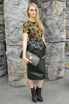 El look de Cara Delevingne: Burberry