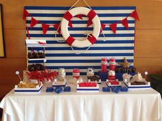 Boda marinera, mesade chuches, Nautical Candy table, wedding, candy bar, nautical