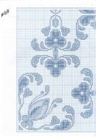 Blue and White Motif Part 3 Cross Stitch Numbers, Cross Stitch Boards, Mini Cross Stitch, Cross Stitch Alphabet, Cross Stitch Flowers, Cross Stitch Designs, Cross Stitch Patterns, Cross Stitching, Cross Stitch Embroidery