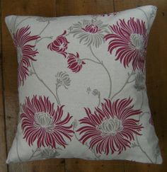 Bespoke covers individually made for you You are purchasing one pair of cushion covers professionally made with Kimono Cranberry A 93 cotton 7 linen