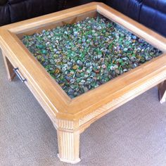 Beer cap coffee table