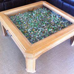 Beer cap coffee table