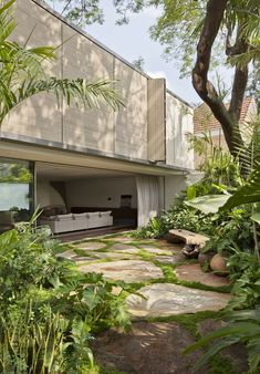 37 natural interior garden design ideas that make you relax 7 « Home Decoration Architecture Design, Tropical Architecture, Japanese Architecture, Amazing Architecture, Futuristic Architecture, Landscape Design, Garden Design, Container House Design, Modern House Design