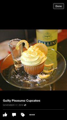 Lemon Drop Cocktail Cupcakes