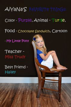 Creative Children's Photography Idea- Blank wall and some photo editing- Record their age and commemorate the year