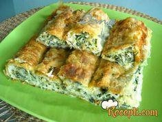 Recept za Pitu sa sirom i blitvom. Za spremanje pite neophodno je pripremiti kore, jaja, blitvu, jogurt, pavlaku, sir, prašak za pecivo.