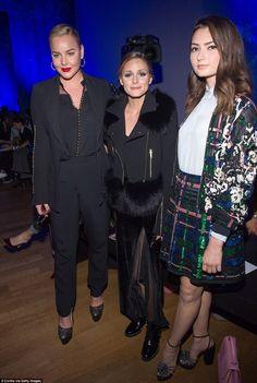 Three's company:: (L-R) Abbie Cornish, Olivia Palermo and Emily Robinson looked sensational at the show