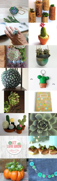 #treasury #etsy #succulente by Maria Ucci Miele featuring my #raku #ceramic #hangingplanter La Bottega 36 via @Etsy--Pinned with TreasuryPin.com