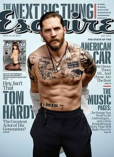 What a man! Aaaand...his LIPS :-D Tom Hardy for Esquire.