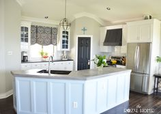 The Kitchen Reveal The Rozy Home Wall color: Sherwin Williams Light French Gray