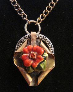 16 Vintage Rose mixed metal OOAK handmade  by RockledgeStudios