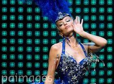 Kylie Minogue performs onstage.