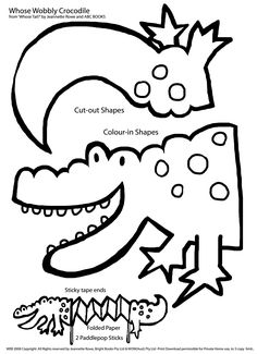 c is for croccodile coloring page | alligator puppet Colouring Pages