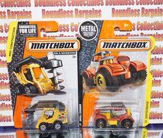 MATCHBOX  LOT OF 2 DIRTSTROYER DRILL DIGGER MBX CONSTRUCTION NEW VHTF #MATCHBOX
