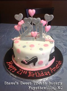 21 Birthday Cake Different Colors 21st For Girls Girly