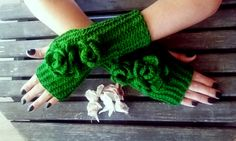 Fingerless Gloves Knit Mittens Gloves Crochet HandmadePakistan Green Hand Warmer Flower Gloves Women Gloves Arm Warmers Gift Ideas Fingerless Gloves Knit Mittens Gloves crochet handmade Pakistan Green Hand Warmer Flower gloves Women gloves Arm Warmers Valentine's Day gift for her gift for winter 20.00 USD #goriani