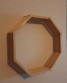 DIY: Popsicle Stick Octagon Shelf