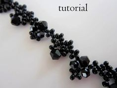PDF tutorial beaded necklace  seed bead  crystal easy