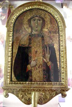 Stendardo della Sant'Agata - lato del Maestro della della Sant'Agata - inizio XIII sec. - Museo Opera del Duomo, Firenze